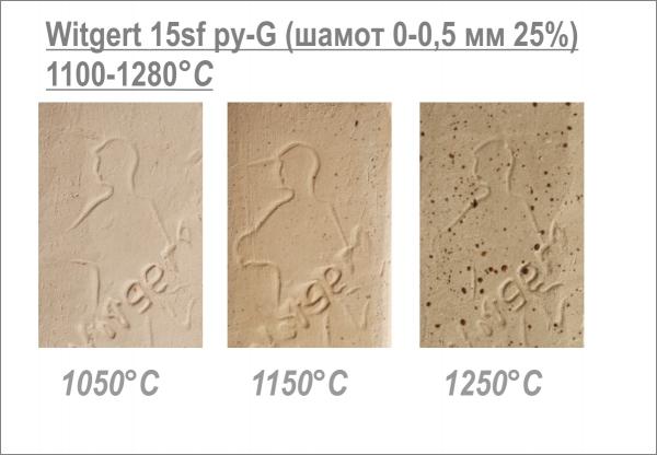 "№15 sf py-G ""cream-yellow with spots"", шамотная масса 25% (0-0,5 мм) Witgert"