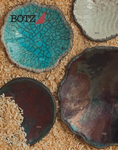 9352 Бирюзовая кракле глазурь Botz