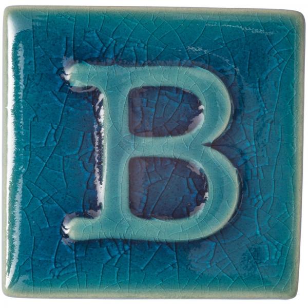9353 Сине-бирюзовая кракле глазурь Botz