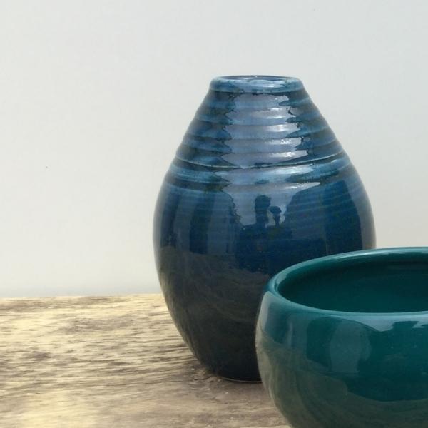 9568 Сине-зеленая с точкой глазурь Botz