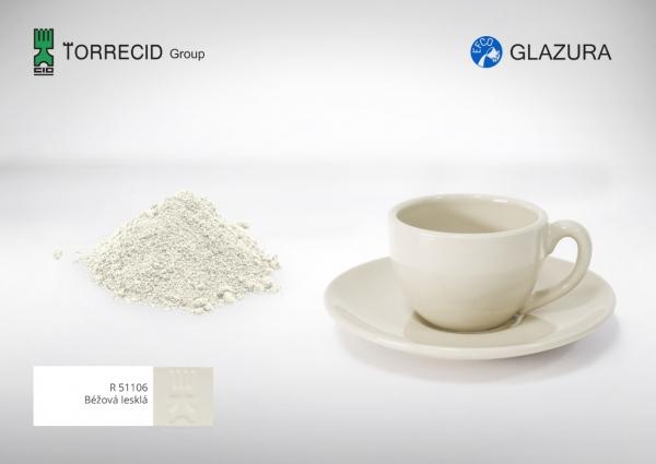 R 51106  Бежевая глянцевая высокотемпературная глазурь GLAZURA