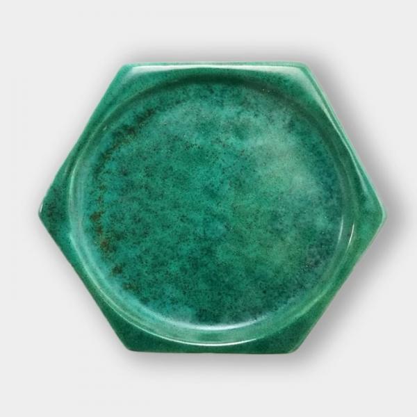 S 1012 Бирюзово-зелёная в крапинку глазурь Seramiksir